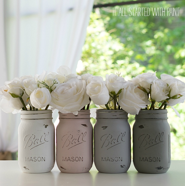 painted-distressed-mason-jars-pink-grey-chalk-paint-3-of-21-2